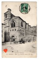 06284-LE-26-ROMANS-Eglise Saint-Barnard,l' Entrée (XIe Siècle)-------animée-charettes - Romans Sur Isere