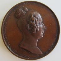 M01921 LOUISE D'ORLEANS - REINE DES BELGES - 1850 - Son Buste (48g) - Adel
