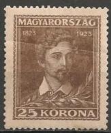Timbres - Hongrie - 1923 - 25 K - Neuf Avec Trace De Charnière Et Pliure -
