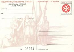 PIA - SMOM - 12.10.1992 : Celebrazioni Colombiane : V° Centenario Della Scoperta Dell´ America - (FILAGRANO I.P. C MN 4) - Malta (la Orden De)