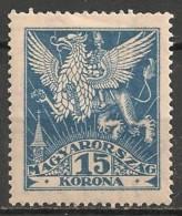 Timbres - Hongrie - 1923 - 15 K - Neuf Avec Trace De Charnière  -