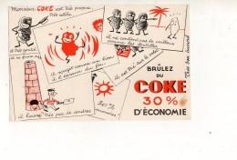 """Buvard """" COKE """" - Buvards, Protège-cahiers Illustrés"""
