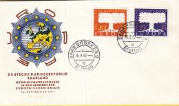Duitsland /Saarland - FDC 16-9-1957 - Europa/CEPT - Saarbrücken 2 - M 402-403 - 1957