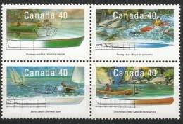 Kanada, 1991, 1233/36, Boote (III): Freizeit Und Sport. MNH ** - 1952-.... Règne D'Elizabeth II
