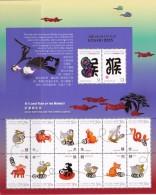 Christmas Island (2016) - MS -  /  Monkey - Chinese New Year - Chinees Nieuwjaar