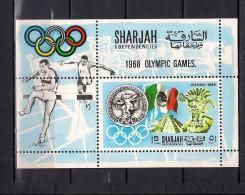 Olympische Spelen  1968 , Sharjah -  Postfris - Sommer 1968: Mexico