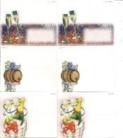 Joli Lot De 6 Cartes De Table - Thème  Fêtes  Champagne, Vins, Coupes - Xmas