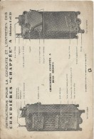 Chaudiéres CHAPPEE/à Eau Chaude /Instructions Pour La Conduite & L'entretien/ A Séries 1 & 2 / 1933 GEF59 - Andere