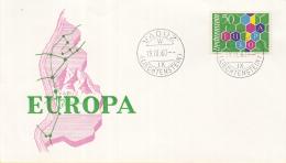 Liechtenstein - FDC 19-9-1960 - Europa/CEPT - Vaduz - M 398 - 1960