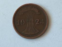 Allemagne 2 REICHS Pfennig 1924 A 1924A - [ 3] 1918-1933 : Weimar Republic