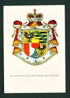 LIECHTENSTEIN  -  National Coat Of Arms  Multi View  Unused Postcard - Liechtenstein