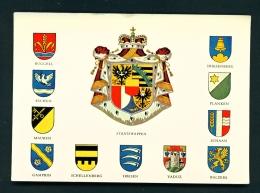 LIECHTENSTEIN  -  National And Regional Coats Of Arms  Unused Postcard - Liechtenstein
