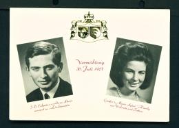 LIECHTENSTEIN  -  Royal Wedding Of July 1967  Unused Postcard - Liechtenstein