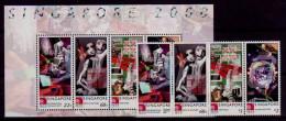 (121-122) Singapore  2000 / Millennium / Jahrtausendwende  ** / Mnh  Michel 978-81 + BL 70 - Singapur (1959-...)