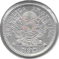 *argentina 10 Centavos 1883  Km 26  Xf - Argentina