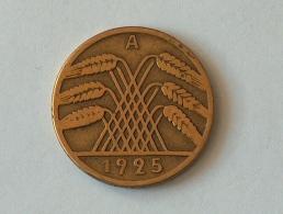Allemagne 10 REICHS Pfennig 1925 A 1925A - [ 3] 1918-1933 : Weimar Republic