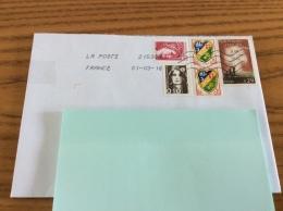 Lettre Avec Oblitération Mécanique Sur 5 Timbres (M De Gandon 4,00frs, M Liberté 0,10frs, 2x Blason Alger, 18 Juin 1940) - France