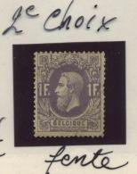 36a *  Abimé Cote 600 Euros - 1869-1883 Leopoldo II