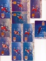 11 Télécartes Des Jeux Olympiques D'hiver 1992 - Jeux Olympiques