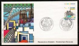 FDC92-03 Dept 92 (Hauts-de-Seine) Paris Notre Dame 1989 PUTEAUX - FDC