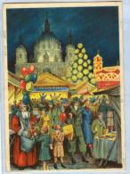 1774 AK Propagandakarte Weihnachstmarkt 1939 + Sst (nacht Bronx NY) - Deutschland