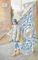 Acquarelli Del Pittore Guido Masignani - Paggi Delle Storiche Contrade Di Siena - Onda - Malerei & Gemälde