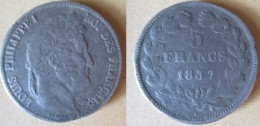FAUSSE 5 Francs Louis Philippe 1837 B Rouen - Variétés Et Curiosités