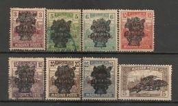 Timbres - Hongrie - 1919 - Série De 8  Timbres -