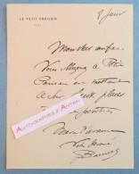 L.A.S M. BANNEL Le Petit Parisien - Lettre Billet Autographe - Autographes