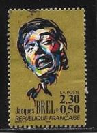 N° 2653  FRANCE  -  OBLITERE  -  CHANSON FRANCAISE JACQUES BREL   - 1990 - Francia