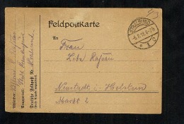 Germany 1918 Feldpost Karte Military Field Post Postcard Stralsund (A635) - Briefe U. Dokumente