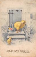 CPA Fantaisie - Joyeuses Pâques - Poussin - Illustrateur - Pâques