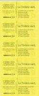 Marianne De Beaujard 604-C2b Bande De Cinq Carnets De Distributeur Le Timbre Vert - Usage Courant