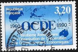 N° 2673  FRANCE  -  OBLITERE  -  30E ANNIV. OCDE   - 1990 - France