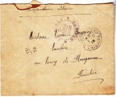 PLOUDALMEZEAU PLOUGONVEN - 2 EME COLONIAL DEPOT - CACHET TAMPON MILITAIRE - Marcophilie (Lettres)