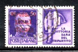 """Y1154 - RSI 1944 , Propaganda Di Guerra  50 Cent """"la Vittoria.."""" Usato - 4. 1944-45 Repubblica Sociale"""