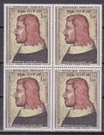 N° 1413 6ème Centenaire De La Mort De Jean II Le Bon : Bloc De 4  Timbres Neuf Impéccable - Unused Stamps