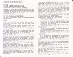 Paul Demeulemeester (1920-1988) ~ Oudstrijder (1940-1945) - Devotion Images