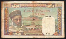 ALGERIA :  100 Francs - 1941- P85 - Circulated - Algeria