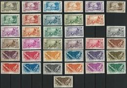 """Oceanie Yt 84 à 120 Ss 95 Et 100 """" Courants, 35 TP """" 1939-49 Neuf**/* - Oceania (1892-1958)"""