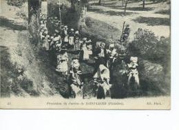 Saint Leger Procession Du Pardon 53 ND Phot 1918 Jeunes  Femmes Croix Bannieres - France