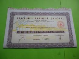 LESIEUR AFRIQUE (ALGER) Algerie - Azioni & Titoli