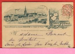 Carte Publicitaire Illustrée 1904 Liqueur Bénédictine Abbaye Fécamp 76 Scans Recto Verso- Des Défauts - Cafés