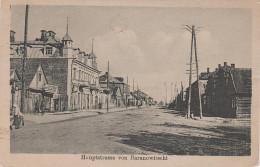 AK Baranawitschy Baranowitschi Bei Brest Litowsk Hauptstrasse Weissrussland Belarus Russland Feldpost Bei Minsk - Weißrussland
