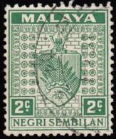 MALAYA Negri Sembilan - Scott #22 Arms (*) / Used Stamp - Negri Sembilan