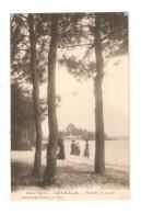CPA 33  Cazeaux Lac - Bords De La Jemeyre Animation Arbre Lac  1917 - France