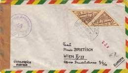 BOLIVIEN 1953 - 2 Fach Frankierung Auf FP-Zensurbrief Gel.v.Oruro > Wien - Bolivia