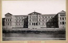 ESPAGNE BILBAO Rare Photo 19è Siècle Universidad Deusto - Lieux