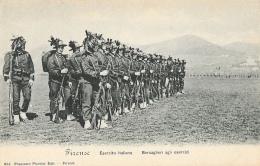 Firenze - Esercito Italiano - Bersaglieri Agli Esercizi - Edit. Francesco Pineider - Carte Précurseur Non Circulée - Regiments