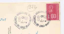 FRANCE - 1,00 ROUGE BEQUET AVEC PHOSPHO - N° Yvert  1892 OBLITÉRATION CACHET HEXAGONAL DE FORT DE FRANCE AEROGARE - Cachets Manuels